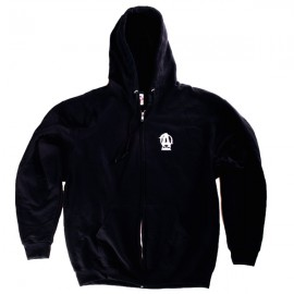 ANIMAL HOODED ZIPPER SWEATSHIRT BLACK